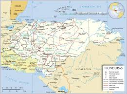 50 States Map With Capitals by Administrative Map Of Honduras Nations Online Project
