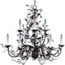 Crystal And Bronze Chandelier Bronze Oil Rubbed Chandeliers Bellacor
