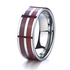 wood wedding band aliexpress buy wood wedding band tungsten ring men jewelry