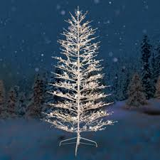 exquisite design white trees artificial light up