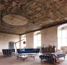 roche bobois profile sofa in navy velvet in its natural habitat