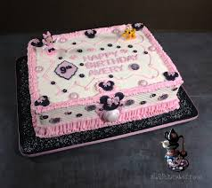minnie mouse is in the house diy fondant cake decorations