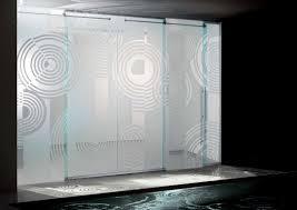 Satin Glass Shower Door by Sliding Glass Shower Doors Idea Sliding Glass Door Ideas