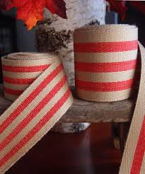 wholesale burlap ribbon striped faux burlap ribbon