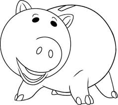 hamm pig toy story coloring pages fiesta tematica toy story