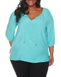 peasant blouse plus size plus size peasant blouse in global turquoise for dawoob