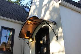 Exterior Awnings Front Door Awnings Exterior With Arched Copper Awning Copper
