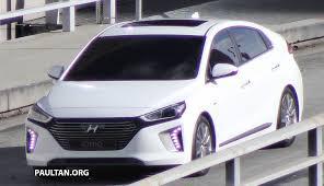 kereta hyundai spied hyundai ioniq hybrid completely undisguised