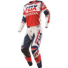 honda racing motocross fox racing 2016 180 honda jersey and pant package white