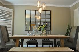 Kitchen Table Lighting Ideas Rustic Modern Apartment Dining Room Design With Antique Track