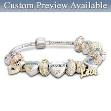 Name Engraved Bracelets Personalized Birthstone Jewelry Personalized Birthstone Rings