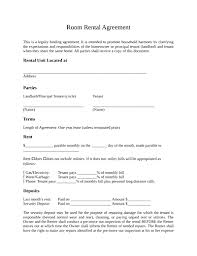 room rental agreement template free download create edit fill and