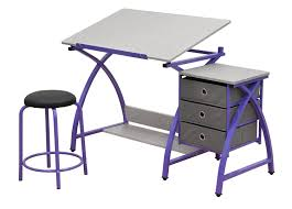 amazon com comet center with stool in purple spatter gray