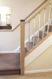 Oak Banisters Chrome Landing Spindles Stairs Ebay Arnita Pinterest
