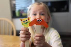 toddler approved craft stick pet puppets for kids