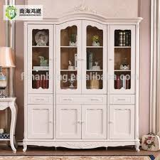3 Door Display Cabinet 2 3 4 Door Tempered Glass European Style Display Cabinet White