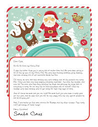 letters from santa free christmas morning letters from santa best letter exles