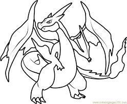 mega charizard y pokemon coloring page free pokémon coloring