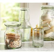 Glass Bathroom Accessories by Pottery Barn Recycled Glass Bath Accessories Polyvore