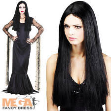 Addams Family Costumes Halloween Morticia Addams Women U0027s Fancy Dress Ebay