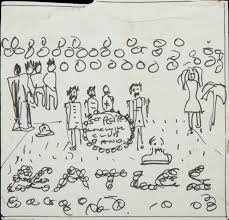 john lennon sgt pepper album sketch global art junkie