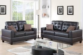 Leather Sofas And Loveseats by Amazon Com Poundex F7857 Bobkona Aria Faux Leather 2 Piece Sofa