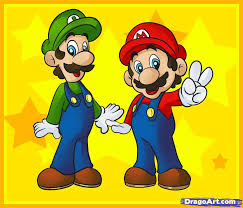 draw mario bros step step video game characters pop