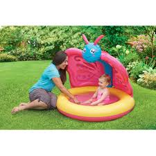 Backyard Pools Walmart by Play Day Butterfly Baby Pool Walmart Com