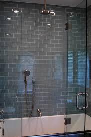 gray glass subway tile in fog bank modwalls lush 3x6 modern tile lush fog bank 3x6 gray subway tile shower wall installation