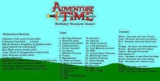 Birthday Princess Meme - adventure time birthday scenario game birthday scenario game