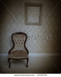 Background With Chair Vintage Chairs Old Room Background Stock Illustration 65939836