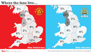 Utd Map Yougov The Truth About Man United And Man City