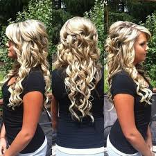 curly down prom hairstyles curly half up half down prom hairstyle