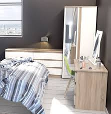 Bedroom Furniture White Gloss Avenue Truffle Oak And White Gloss Bedroom Furniture 99 1099