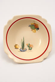 homer laughlin homer laughlin pottery berry bowl with conchita decals and