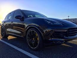 porsche cayenne 2016 black pics 2016 cayenne turbo s in black rennlist porsche