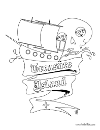 pirate coloring pages treasure island coloring page island in