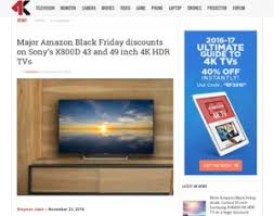 amazon black friday 2016 4k sony major amazon black friday discounts on sony u0027s x800d 43 and