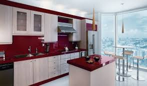 Kitchen Countertop Material Delorme Designs Seeing Red Red Countertops