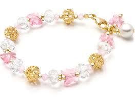 childrens gold bracelets butterfly princess 14k gold baby children s beaded bracelet