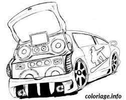 coloriage voiture tuning dessin