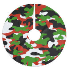camo christmas camo christmas tree skirts zazzle