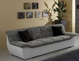 sofa grau weiãÿ tivoli 3er sofa weiß grau service ebay