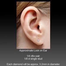 1 4 carat diamond earrings 1 4 carat diamond earring single stud 1 4 carat i2 j m