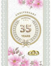 35 year wedding anniversary wedding anniversary 35 years stock vector seriga 82148772