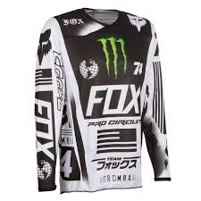 monster motocross jersey fox jersey 180 monster pro circuit white black green limited