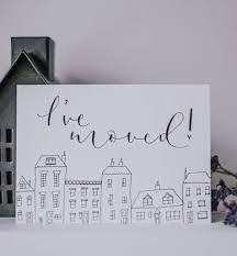 pack of five new address cards by kayleigh tarrant