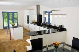 Red Black White Kitchen - kitchen transitional black and white kitchen with attractive