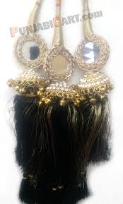 paranda hair accessory punjabicart products parande black antique jhumar style