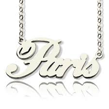 white gold name necklace style name necklace solid white gold